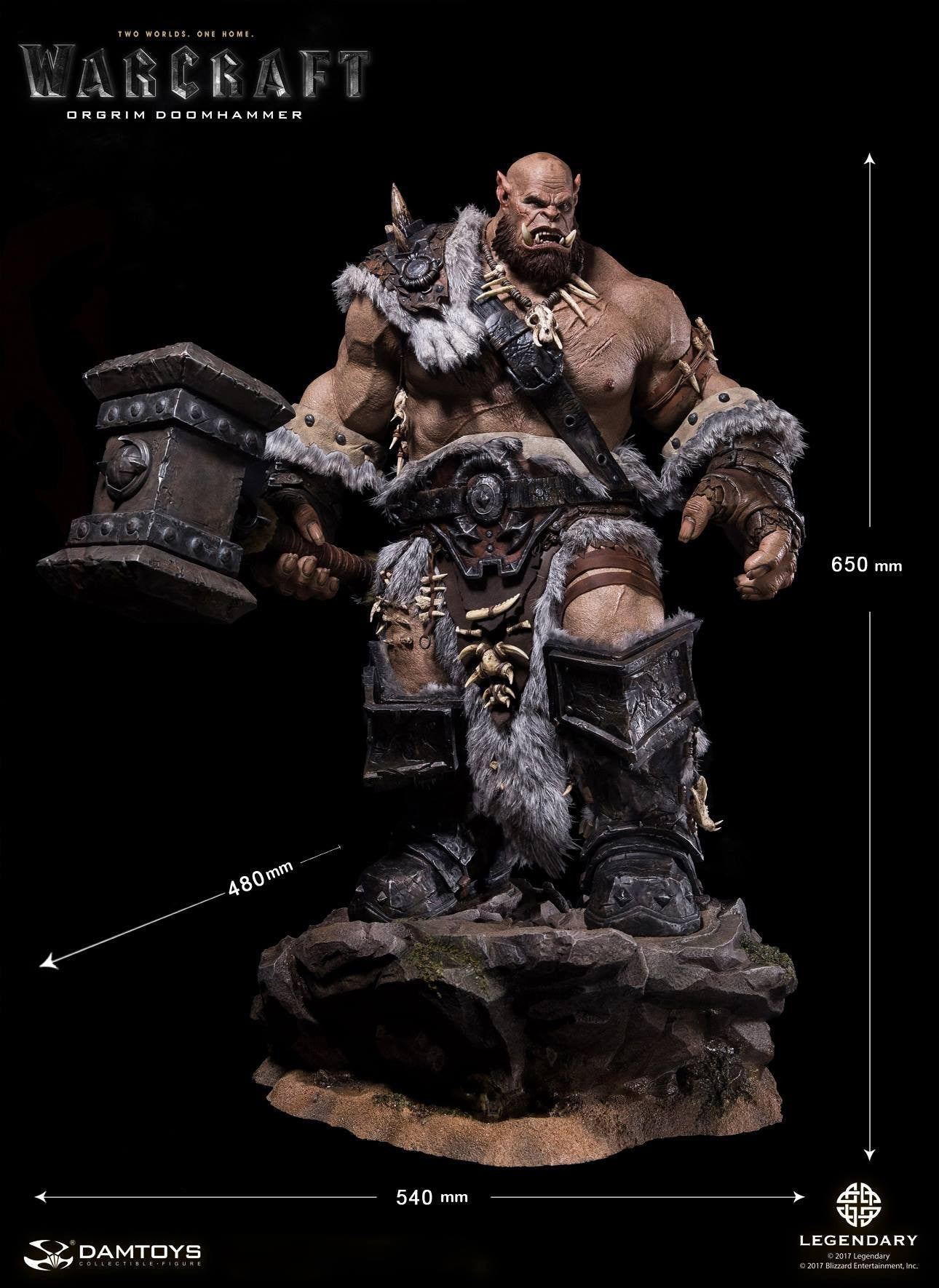 Dam Toys - DMLW02 - Epic Series - Warcraft - Orgrim Doomhammer Premium Statue - Marvelous Toys - 22