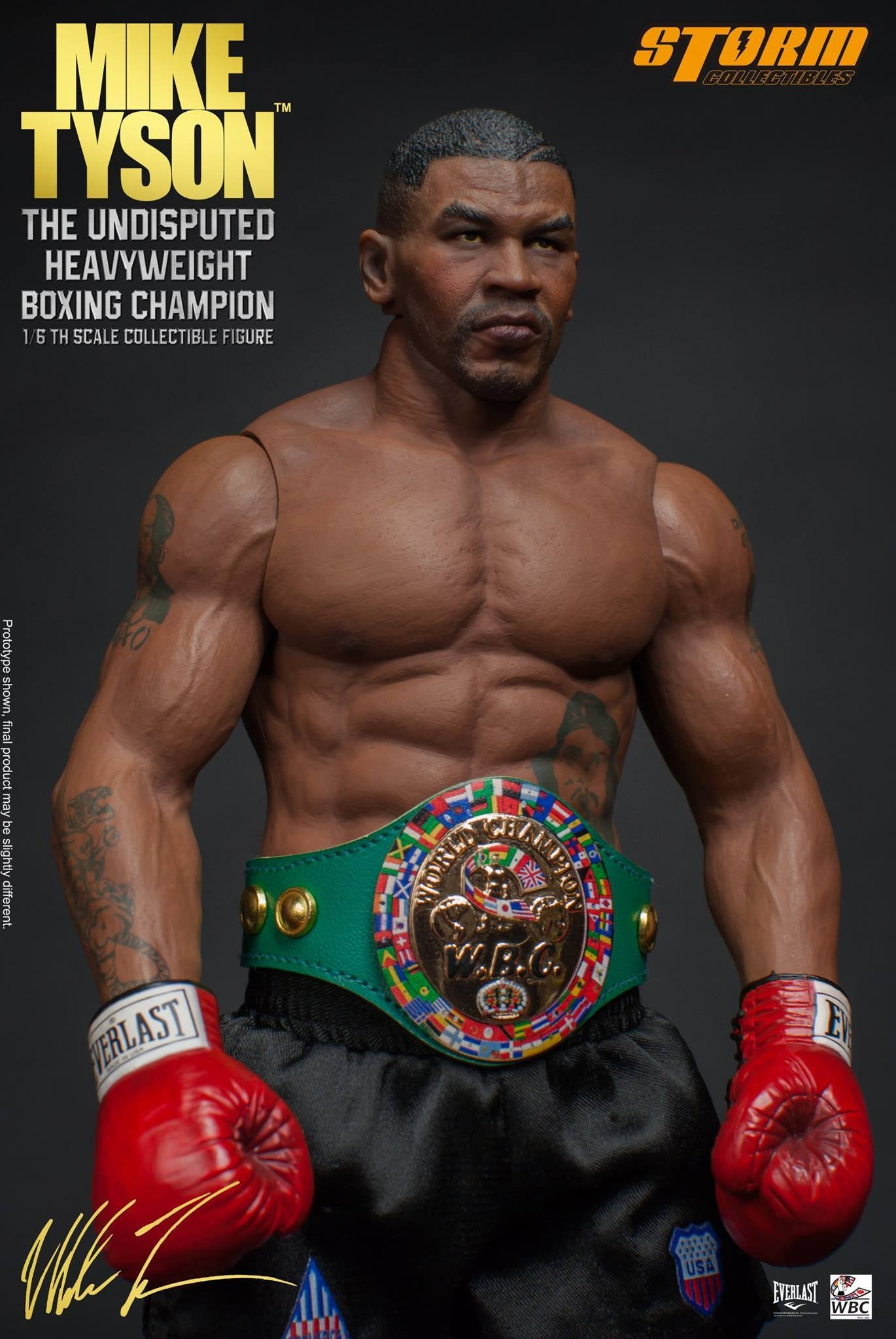 "Storm Collectibles - 1:6 Scale Collectible Figure - Mike Tyson ""The Undisputed Heavyweight Boxing Champion"" - Marvelous Toys - 6"