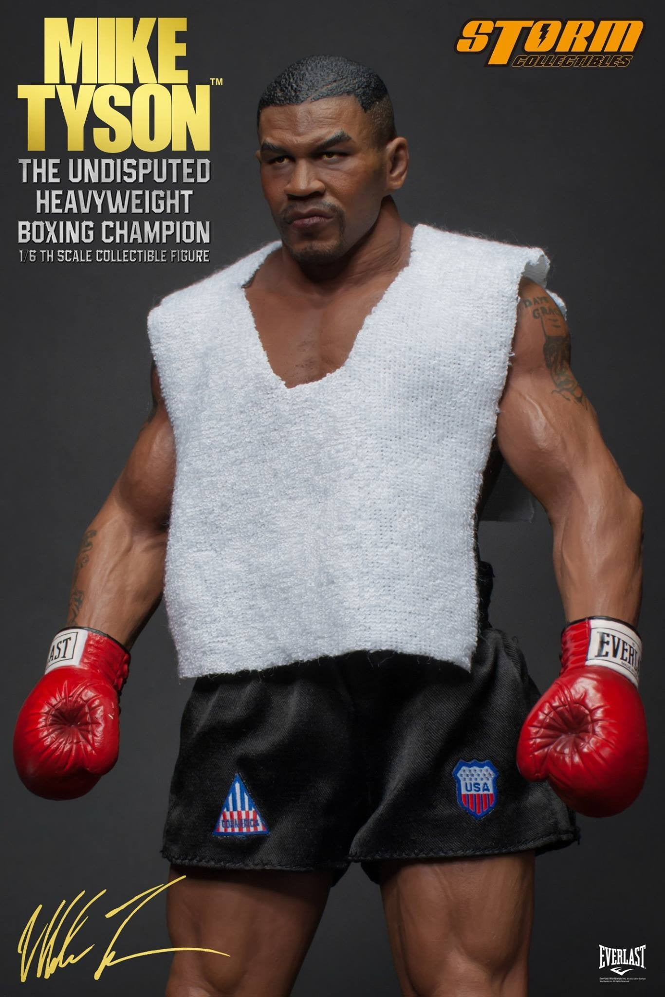 "Storm Collectibles - 1:6 Scale Collectible Figure - Mike Tyson ""The Undisputed Heavyweight Boxing Champion"" - Marvelous Toys - 9"