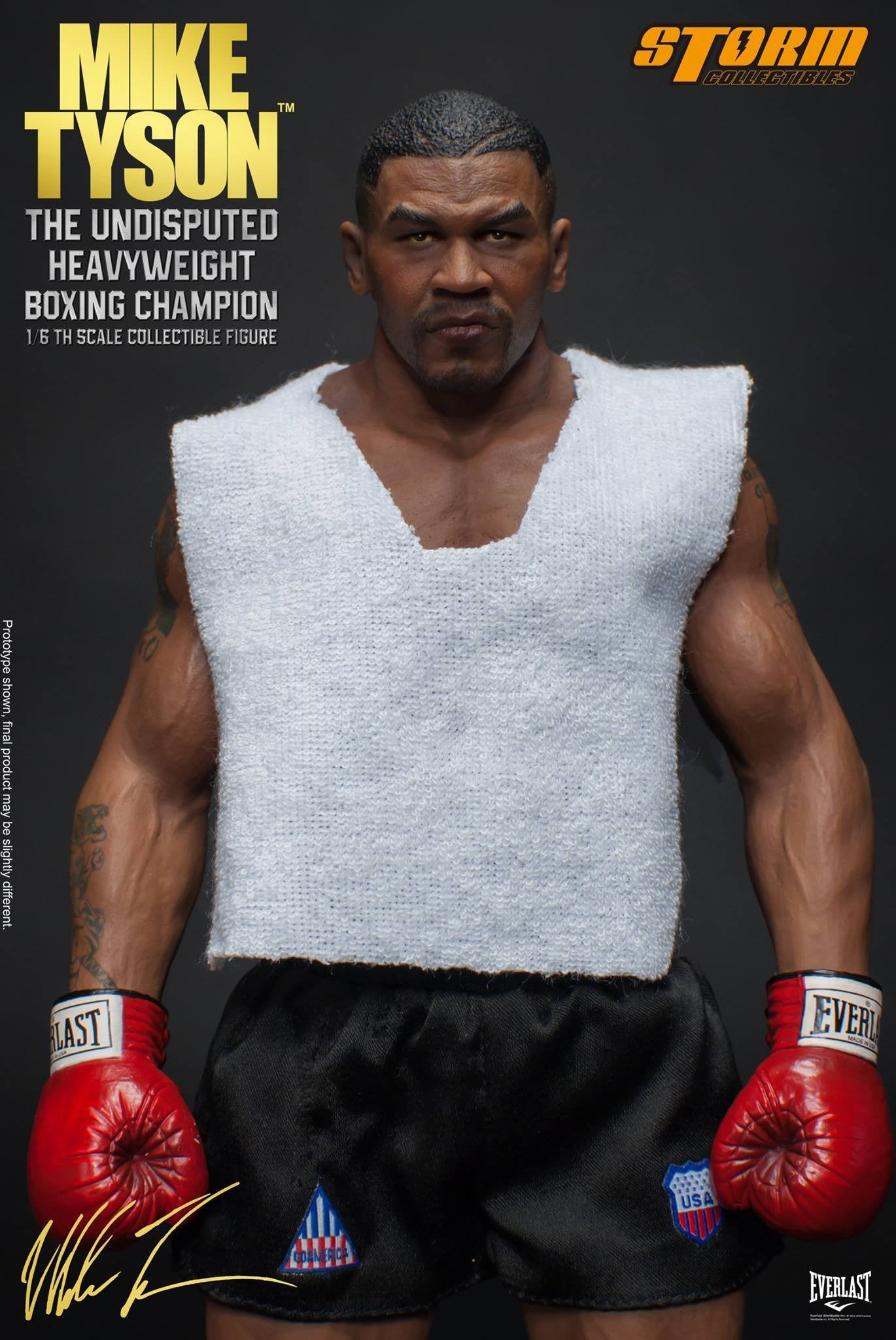 "Storm Collectibles - 1:6 Scale Collectible Figure - Mike Tyson ""The Undisputed Heavyweight Boxing Champion"" - Marvelous Toys - 11"