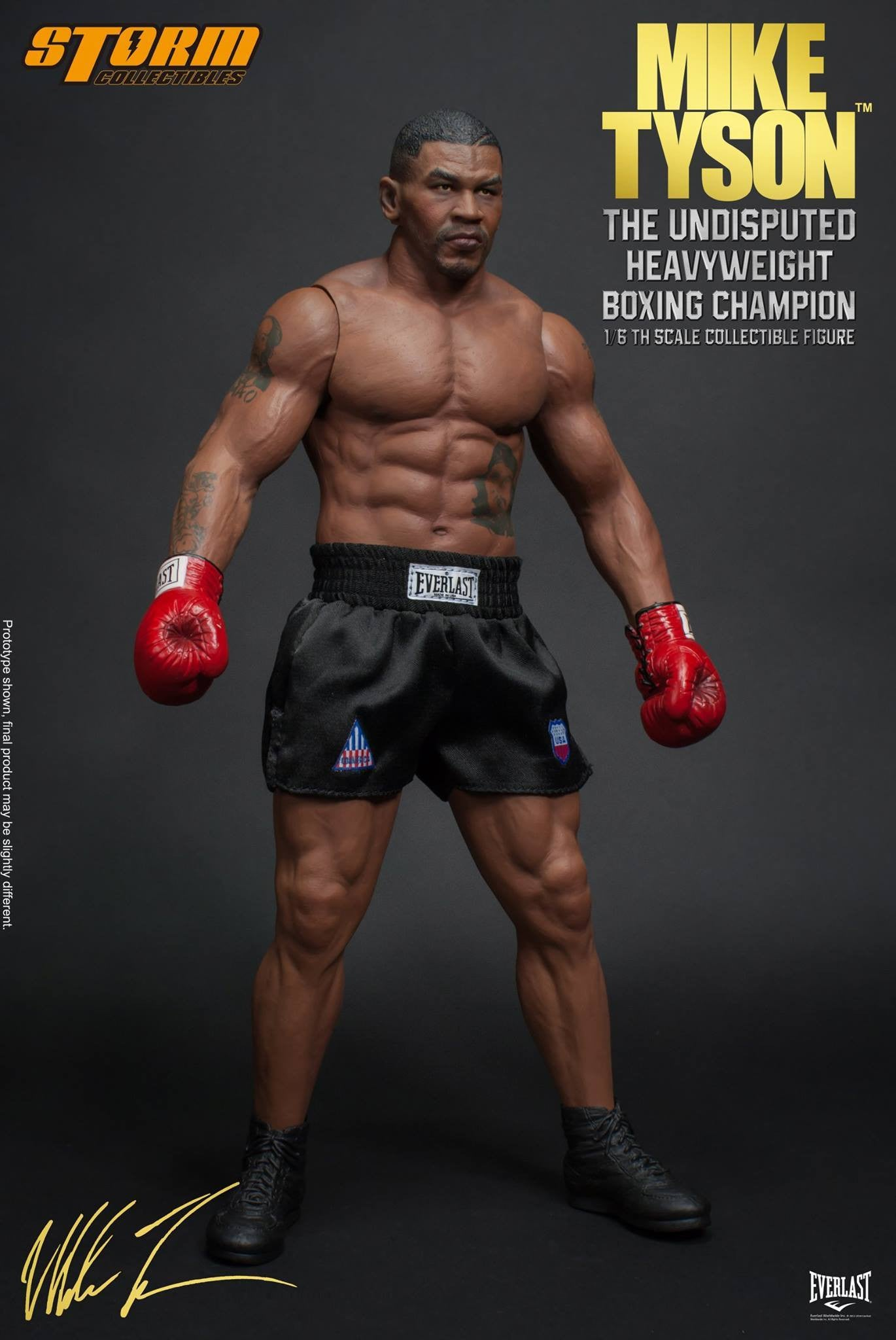 "Storm Collectibles - 1:6 Scale Collectible Figure - Mike Tyson ""The Undisputed Heavyweight Boxing Champion"" - Marvelous Toys - 13"