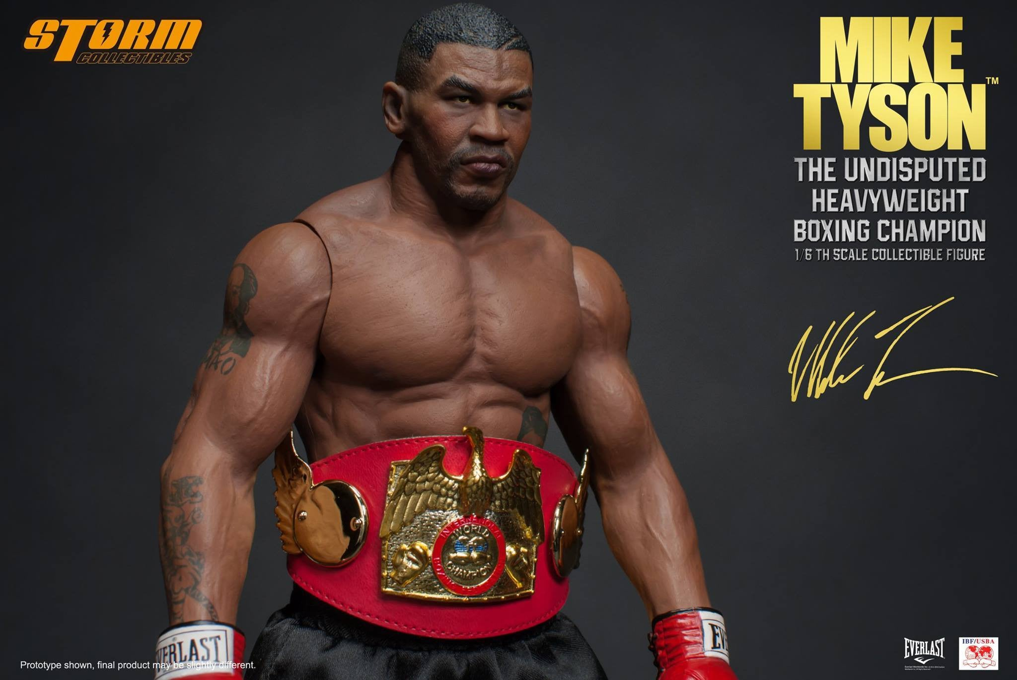 "Storm Collectibles - 1:6 Scale Collectible Figure - Mike Tyson ""The Undisputed Heavyweight Boxing Champion"" - Marvelous Toys - 17"