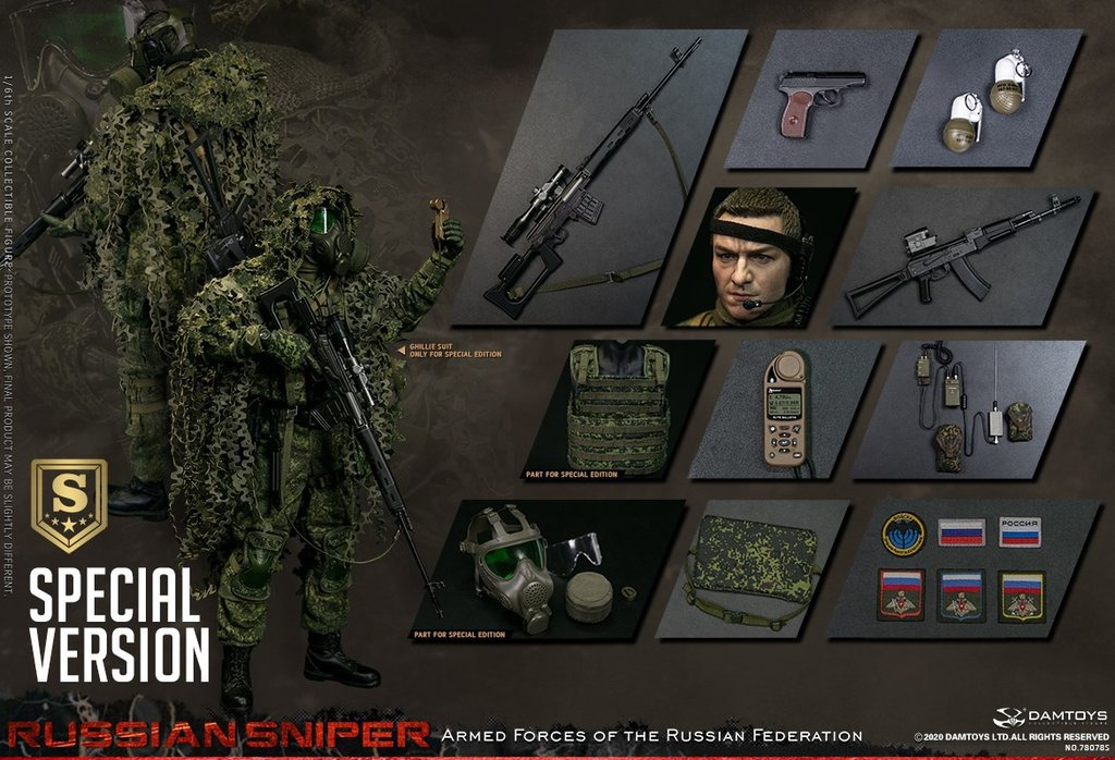 DamToys - Elite Series 78078S - Armed Forces of the Russian Federation - Sniper (Special Edition)