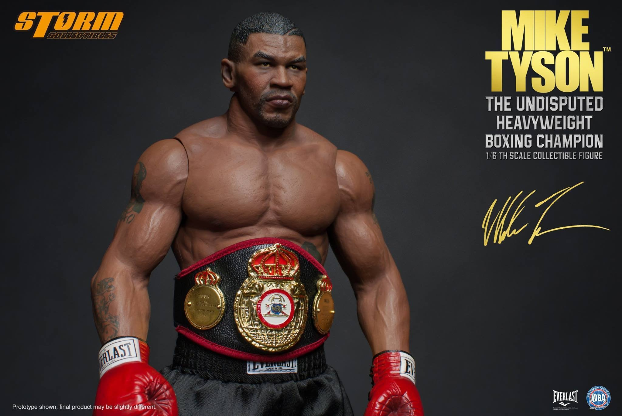 "Storm Collectibles - 1:6 Scale Collectible Figure - Mike Tyson ""The Undisputed Heavyweight Boxing Champion"" - Marvelous Toys - 18"
