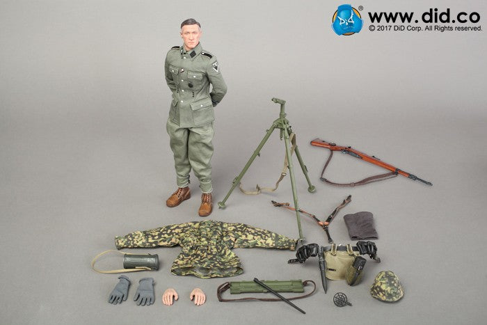 "DiD - D80127 - 3rd SS Panzer Division MG34 Gunner Ver. C ""Curtis"""