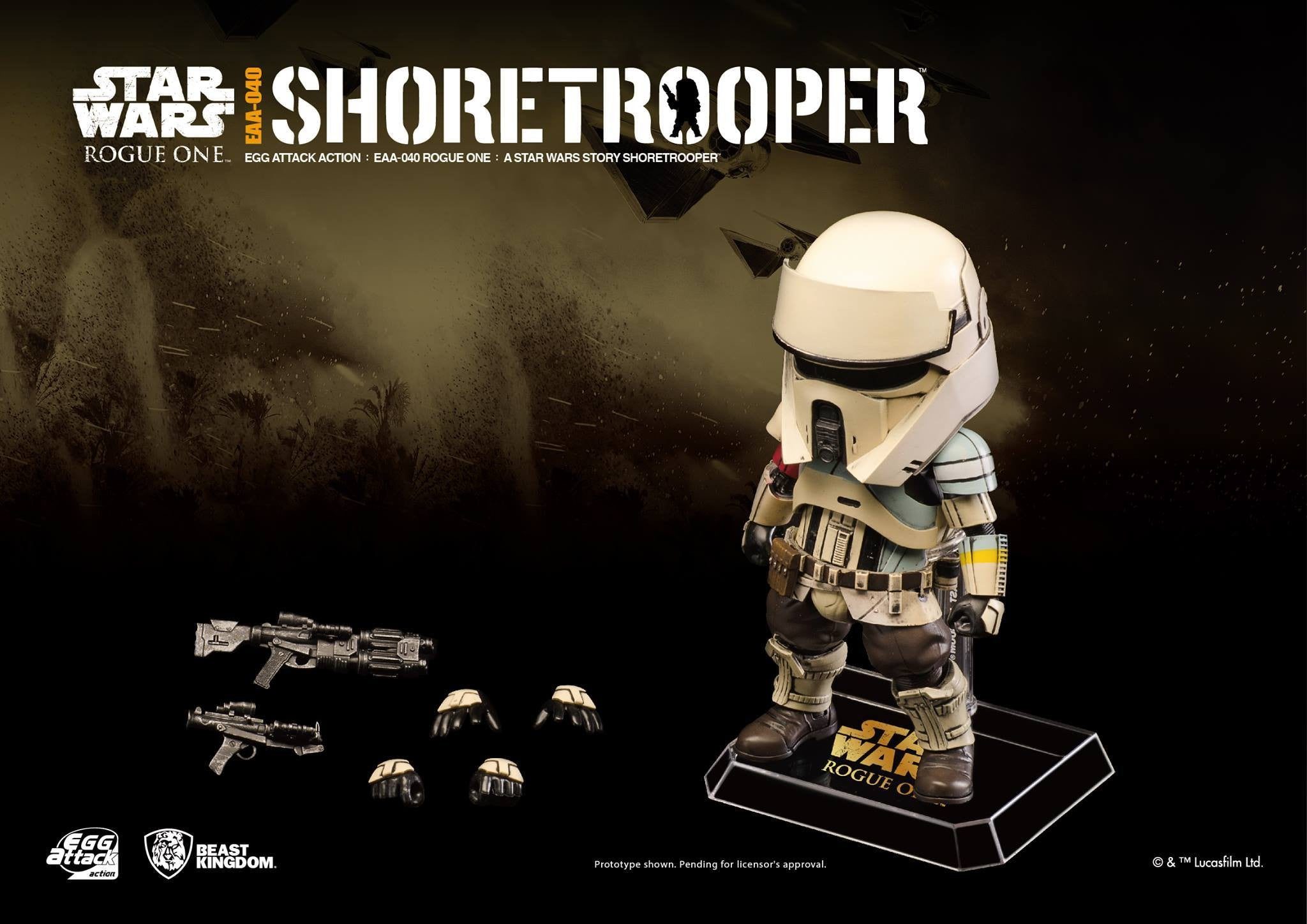 Egg Attack Action EAA-040 - Rogue One: A Star Wars Story - Shoretrooper - Marvelous Toys - 4