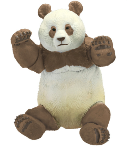 Kaiyodo - Sofubi Toy Box - STB003B - Brown Panda - Marvelous Toys - 6