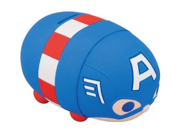 Ensky - Marvel Tsum Tsum - Sofubi Coin Bank  - Captain America - Marvelous Toys - 3