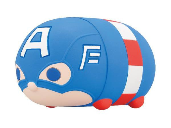 Ensky - Marvel Tsum Tsum - Sofubi Coin Bank  - Captain America - Marvelous Toys - 1