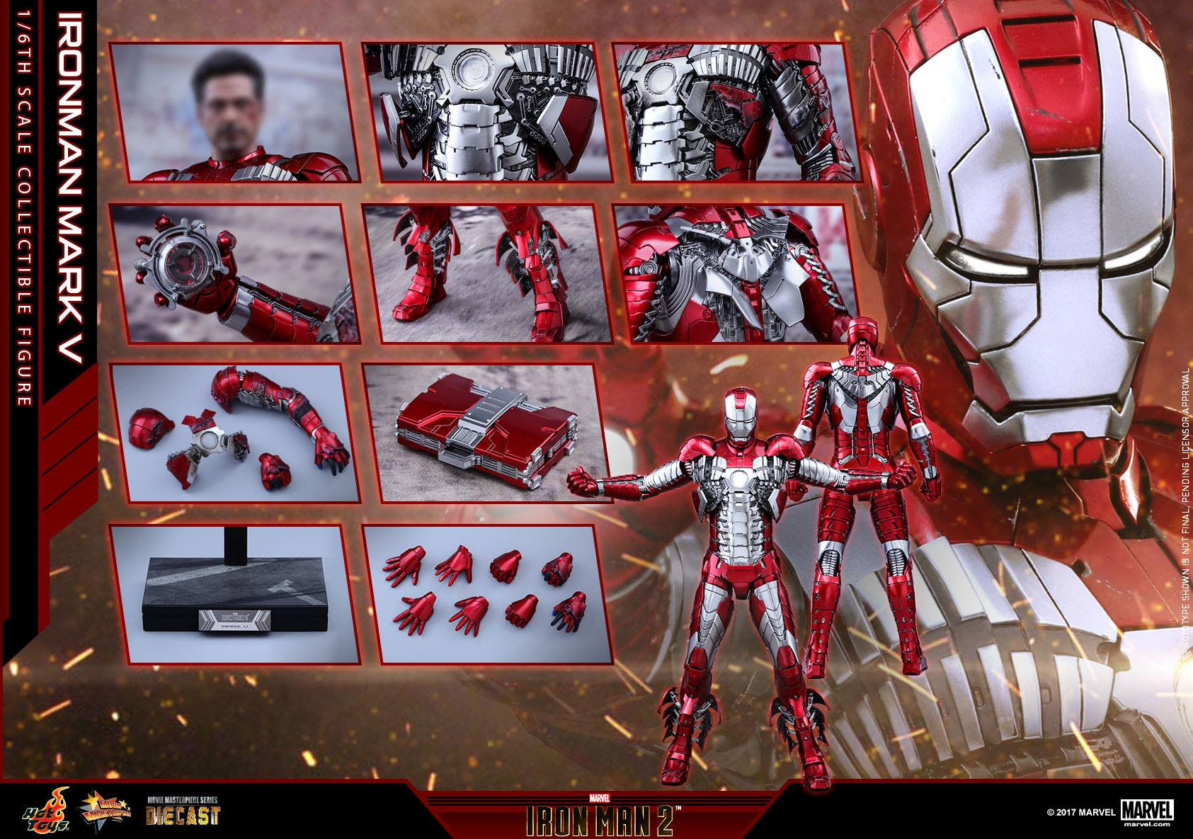 Hot Toys - MMS400D18 - Iron Man 2 - Mark V (DIECAST)