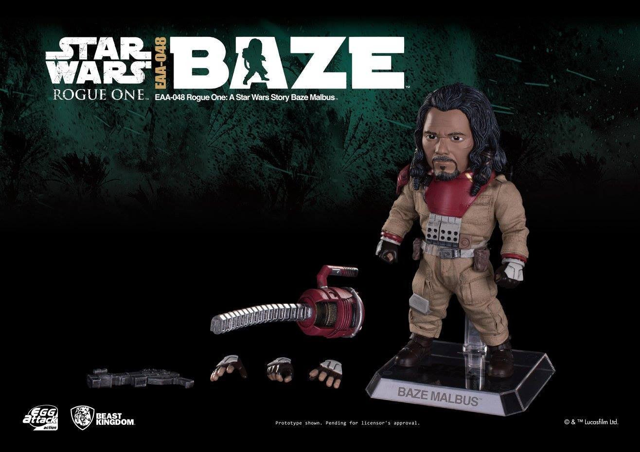 Egg Attack Action - EAA-048 - Rogue One: A Star Wars Story - Baze Malbus - Marvelous Toys - 4