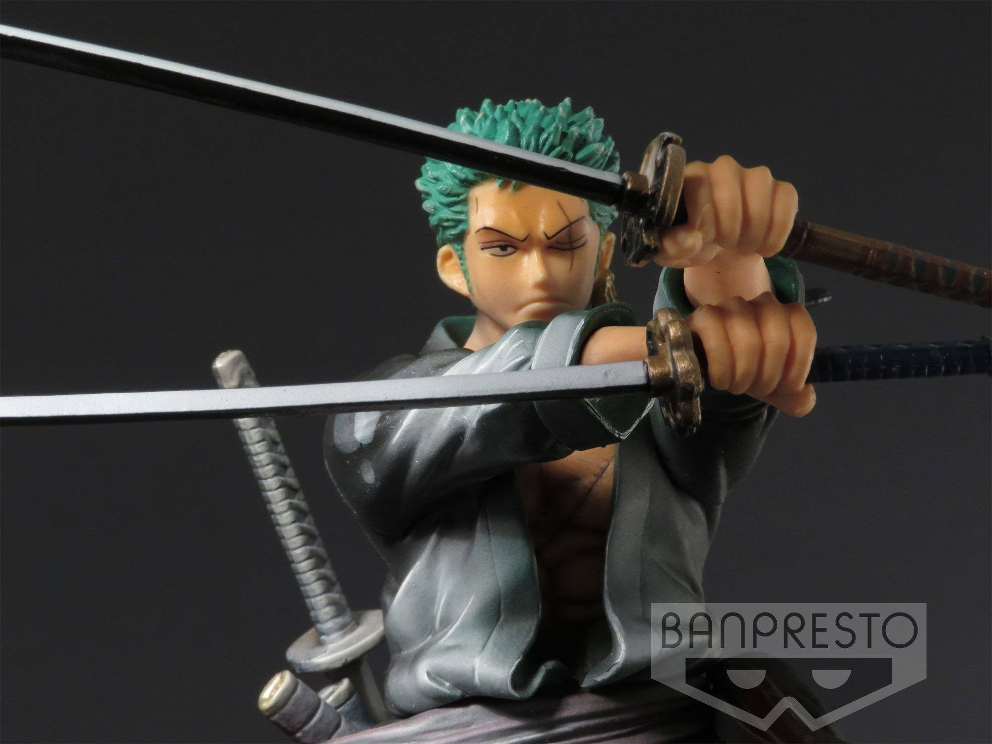 Banpresto - Prize Item 35386 - One Piece Sculptures - Zoro (Shining Color Ver.)