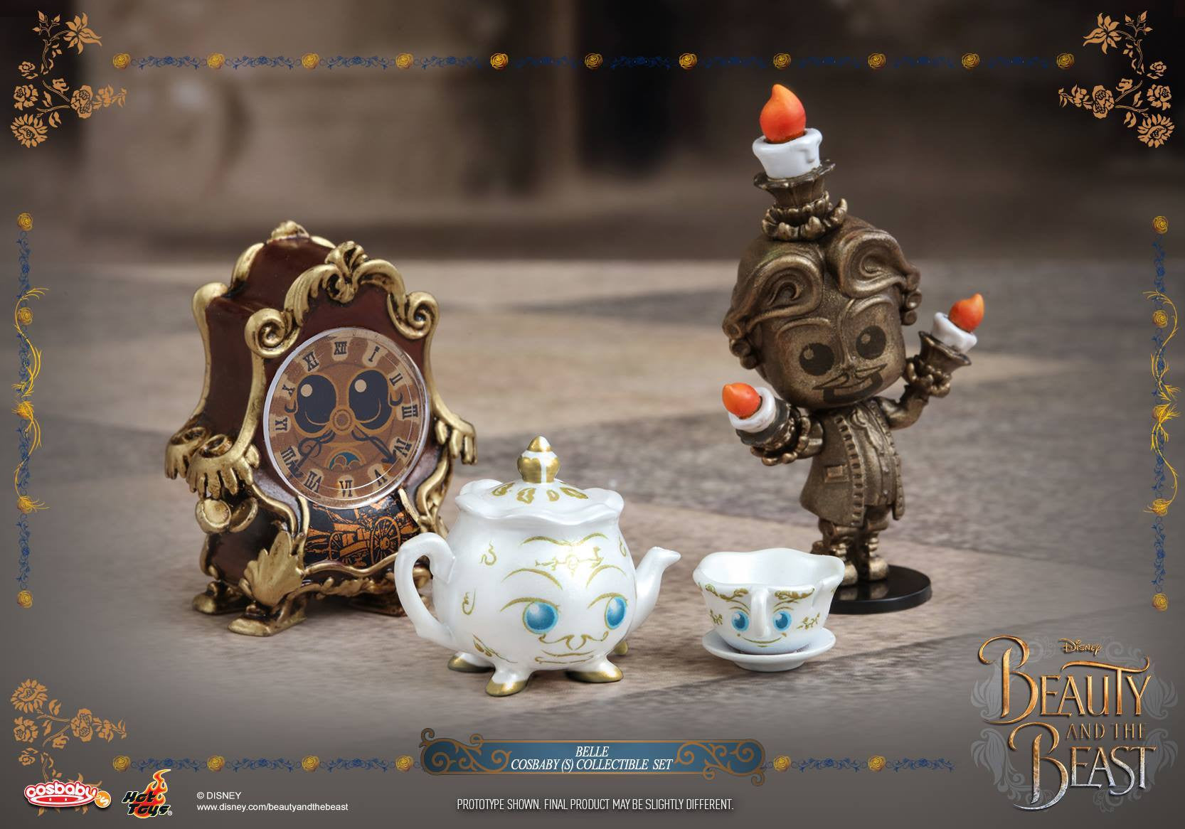 Hot Toys - COSB353 - Beauty and the Beast - Belle Cosbaby Set (includes Lumière, Cogsworth, Mrs. Potts & Chip)