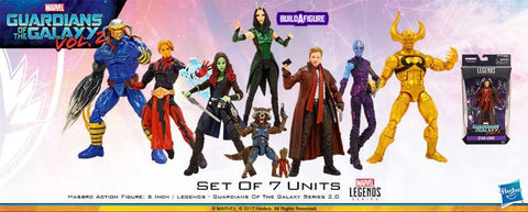 Hasbro - Marvel Legends Infinite Series - Guardians of the Galaxy 2017 Series 2 - Set of 7