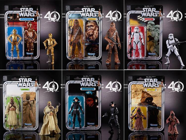 "Hasbro - Star Wars The Black Series - 6"" Figure - 40th Anniversary - Wave 2 (Set of 6)"