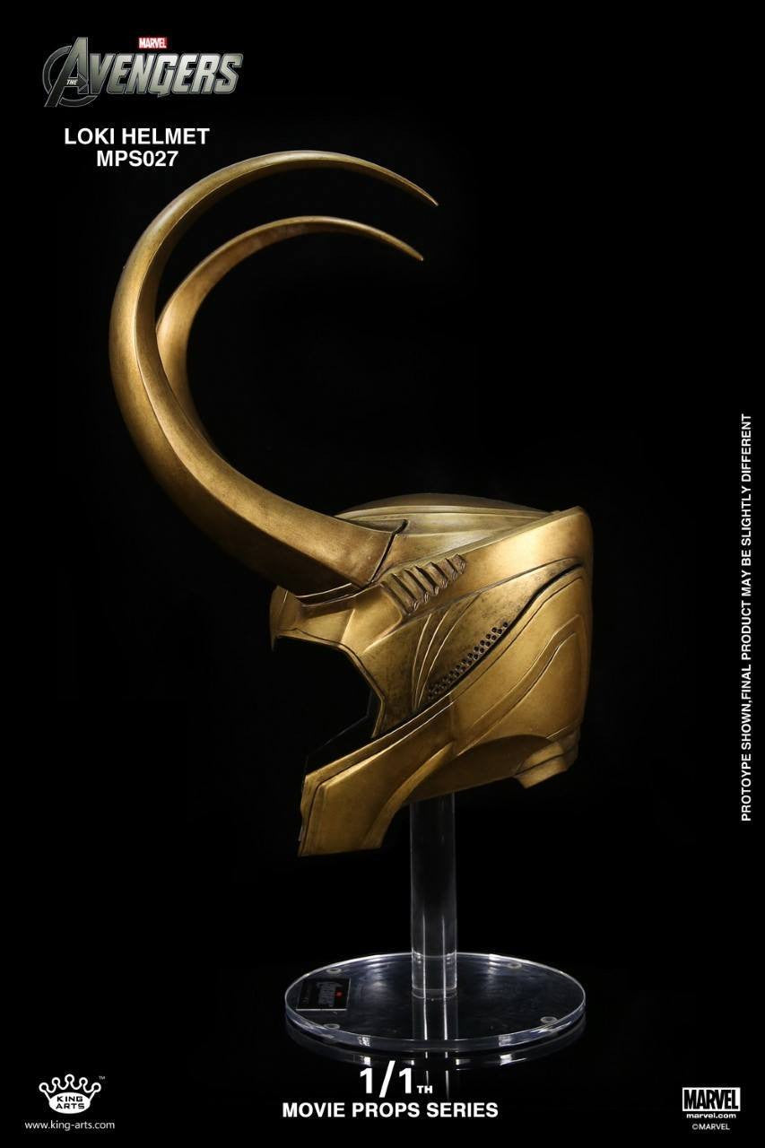 King Arts - Movie Props Series MPS027 - The Avengers - 1:1 Scale Loki Helmet