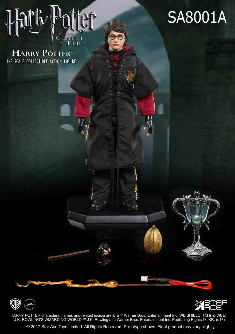 Star Ace Toys - SA8001A - Harry Potter and the Goblet of Fire - Harry Potter with Light Up Wand (Triwizard Tournament Battle Version)