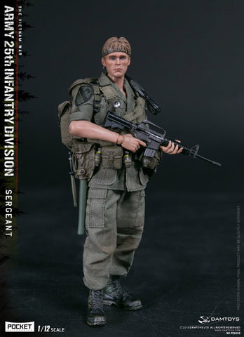 Dam Toys - Pocket Elite Series PES005 - Vietnam War - Army 25th Infantry Division - Sergeant (1/12 Scale)