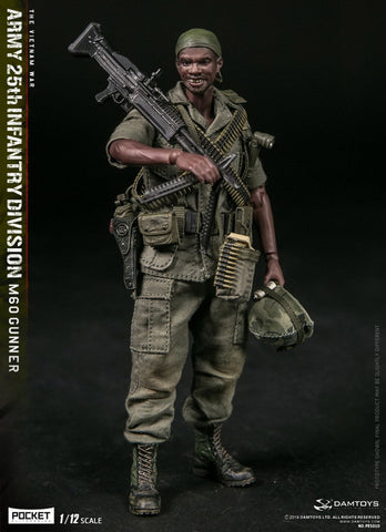 Dam Toys - Pocket Elite Series PES010 - Vietnam War - Army 25th Infantry Division - M60 Gunner (1/12 Scale)