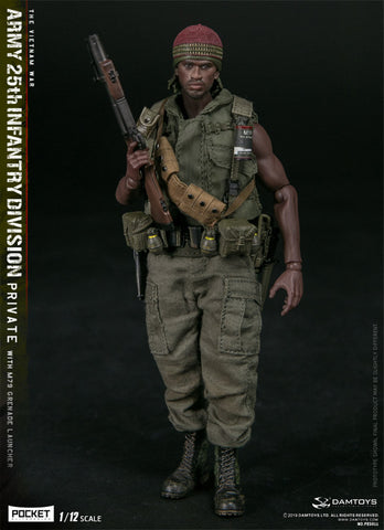 DamToys - PES011 - Vietnam War - Army 25th Infantry Division Private with M79 Grenade Launcer