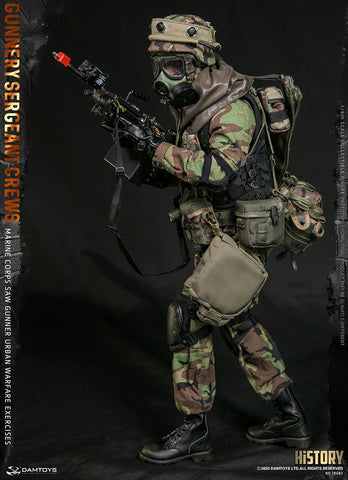 Damtoys - Elite Series 78082 - Marine Corps SAW Gunner - Urban Warfare Exercises - Gunnery Sergeant Crews