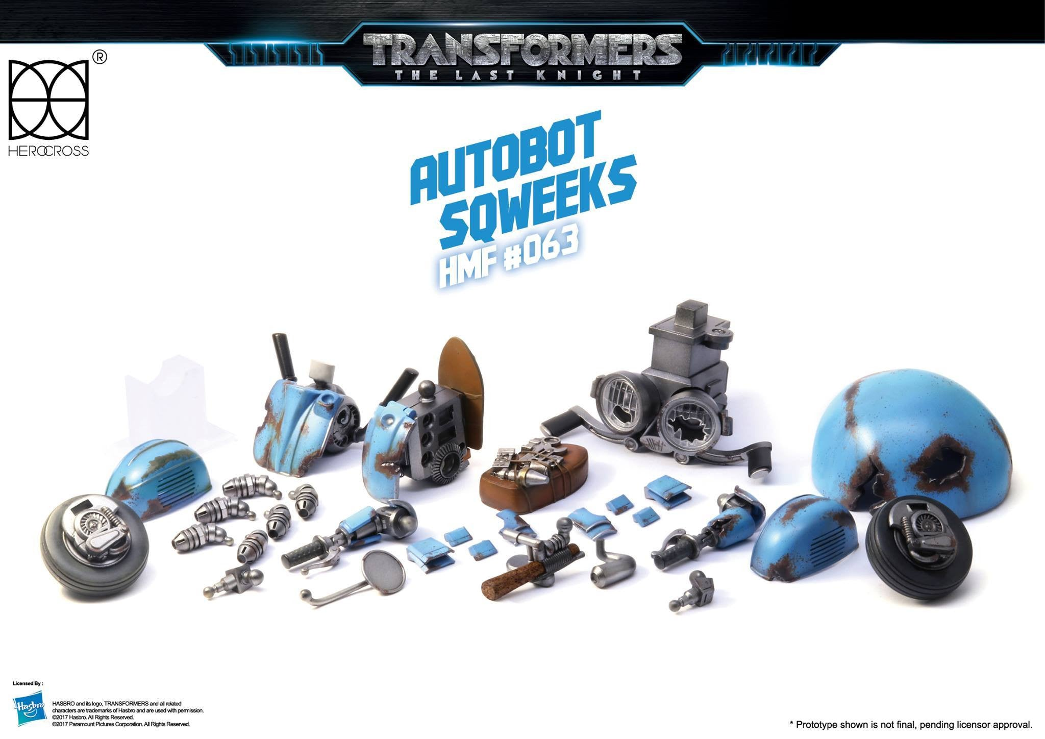 Herocross - Hybrid Metal Figuration HMF063 - Transformers: The Last Knight - Autobot Sqweeks