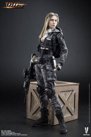 Very Cool - VCF2035-A - 1/6 Digital Camouflage Women Soldier - Villa Sister (Police Black Python Stripe)
