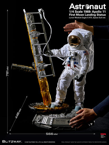 Blitzway - Superb Scale Statue (Hybrid Type) - 1969: Apollo 11 First Moon Landing - Astronaut Statue (LM-5 A7L Space Suit Ver.) (1/4 Scale)