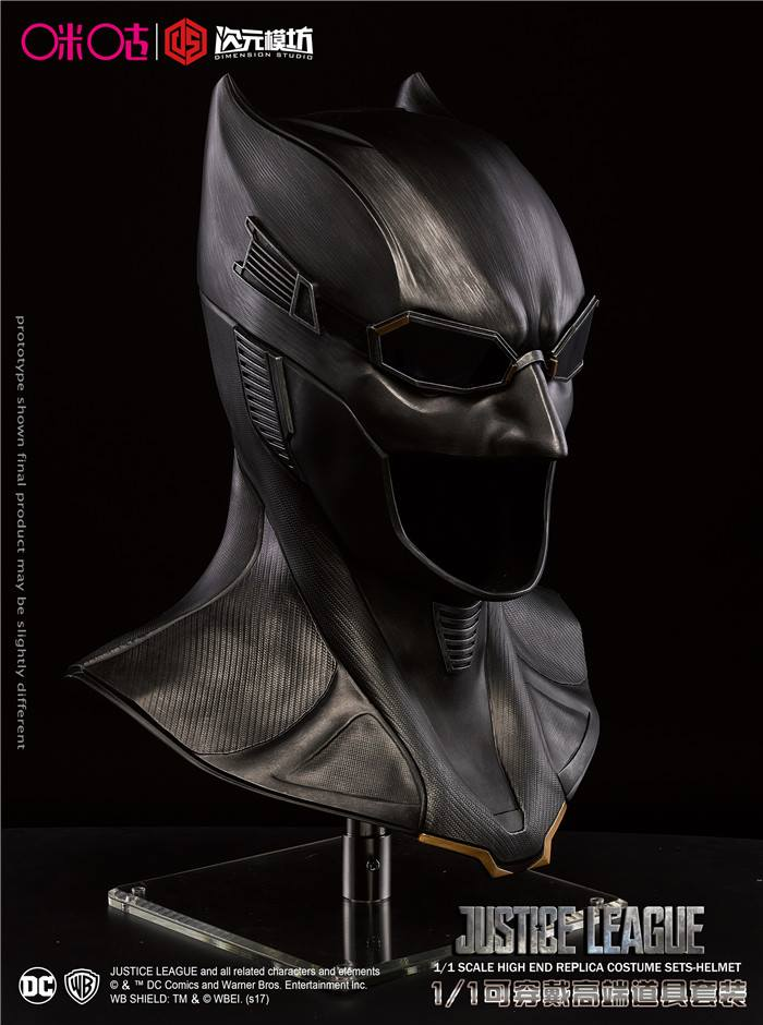 Dimension Studio - 11 Movie Props - Justice League - Batman Cowl (Tactical : authentic batman costume replica  - Germanpascual.Com