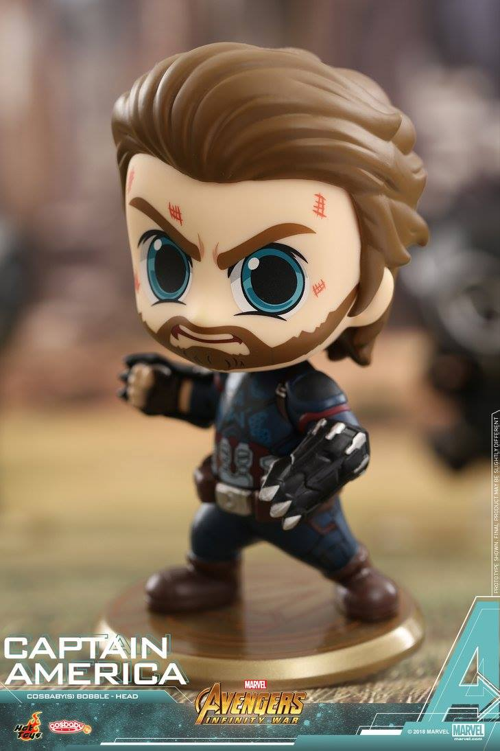 Hot Toys - COSB429 - Avengers: Infinity War - Captain America Cosbaby Bobble-Head