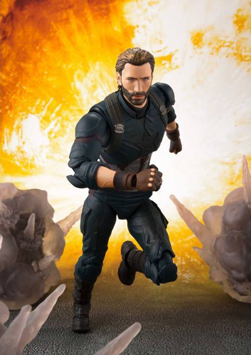 S.H.Figuarts - Avengers: Infinity War - Captain America & Tamashii Effect Explosion (TamashiiWeb Exclusive)