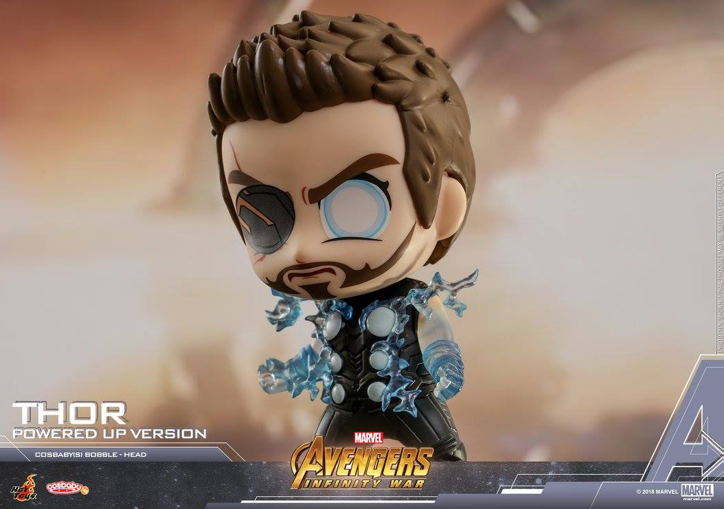 Hot Toys - COSB447 - Avengers: Infinity War - Thor (Powered Up Version) Cosbaby Bobble-Head
