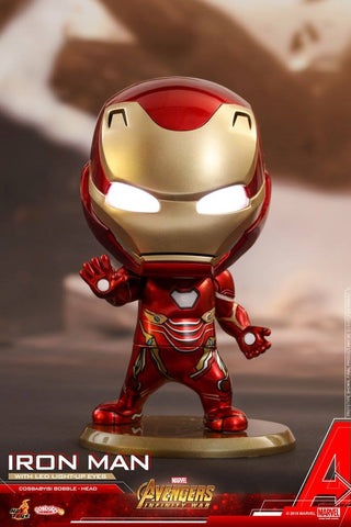 Hot Toys - COSB430 - Avengers: Infinity War - Iron Man Cosbaby Bobble-Head (with light-up function)