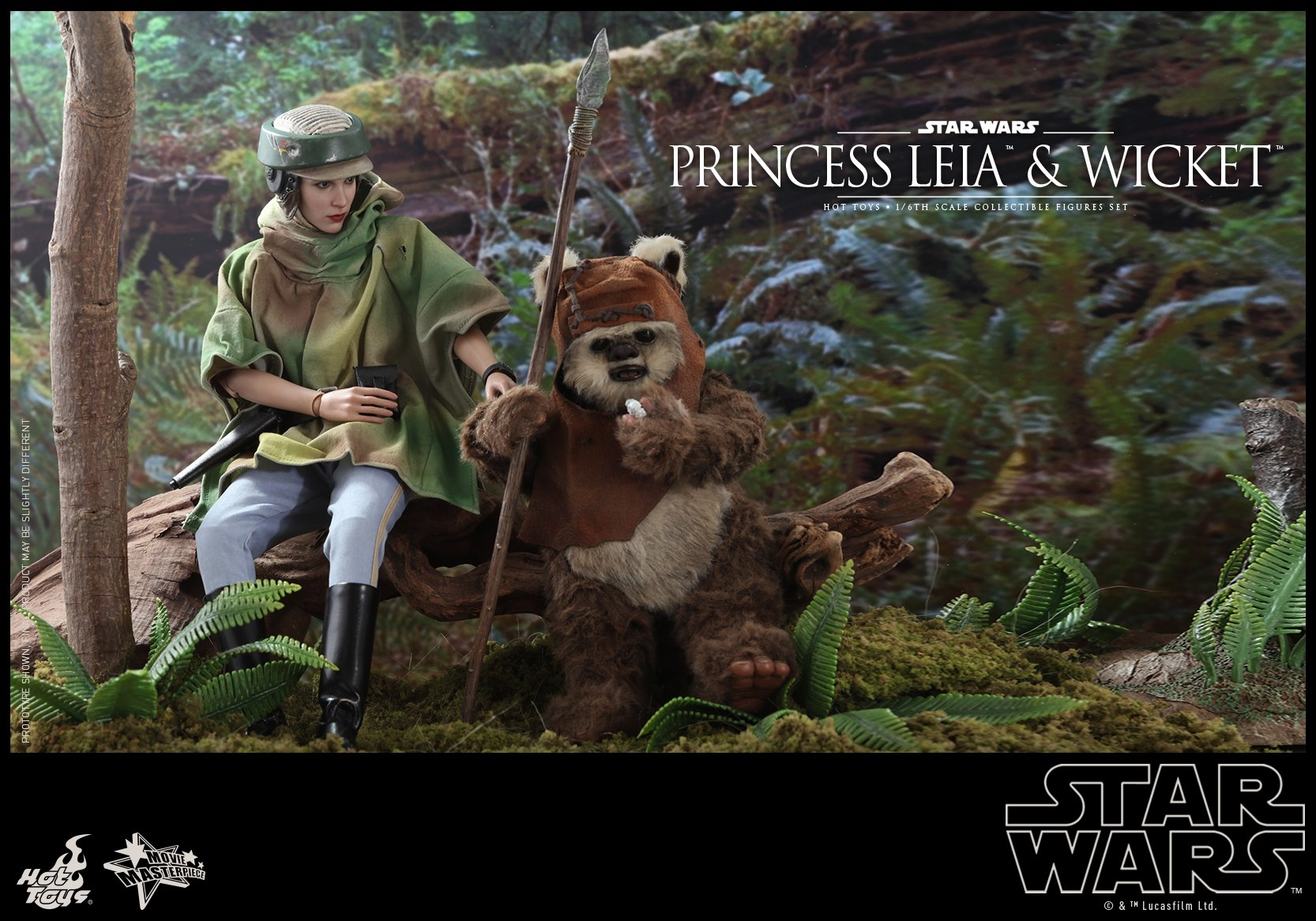 Hot Toys - MMS551 - Star Wars: Return of the Jedi - Princess Leia and Wicket