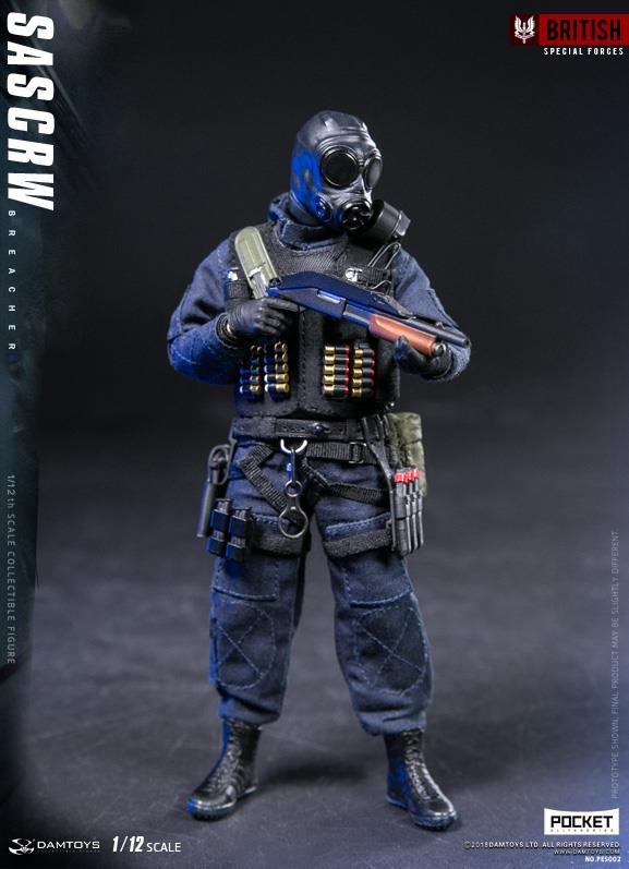 Dam Toys - Pocket Elite Series PES002 - British Special Forces - SAS CRW Breacher (1/12 Scale)