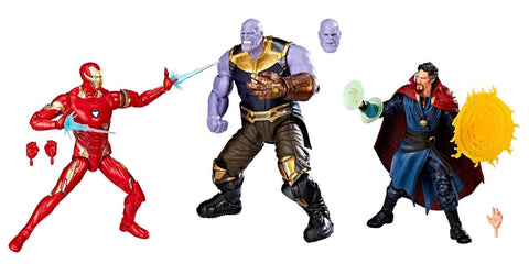 Hasbro - Marvel Legends - Marvel Studios: The First Ten Years - Iron Man Mark L, Thanos and Doctor Strange