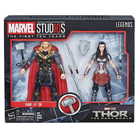 Hasbro - Marvel Legends - Marvel Studios: The First Ten Years - Thor and Lady Sif (2-Pack)