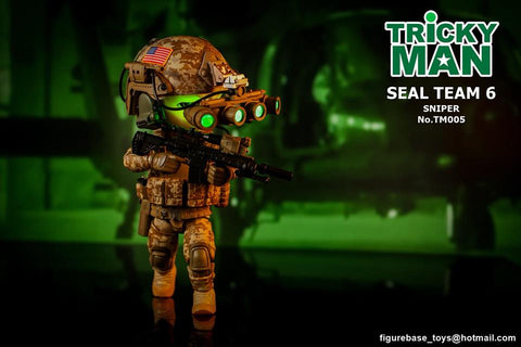 "Figure Base - Tricky Man 5"" Series - TM005 - SEAL Team 6 Sniper"