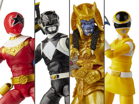 Hasbro - Power Rangers Lightning Collection - Wave 6 (Goldar, MMPR Black Ranger, Zeo Red Ranger, PRIS Yellow Ranger)