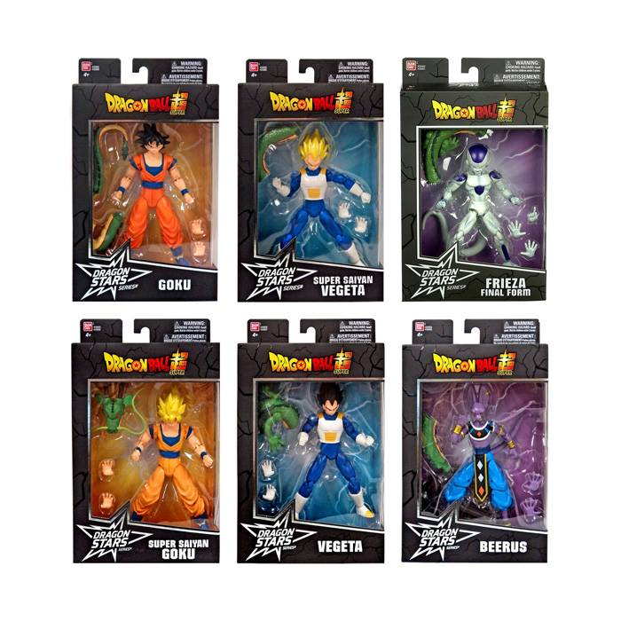 Bandai America - Dragon Ball Super - Dragon Stars Series 1 and 2 (BAF Shenron) (Set of 6)