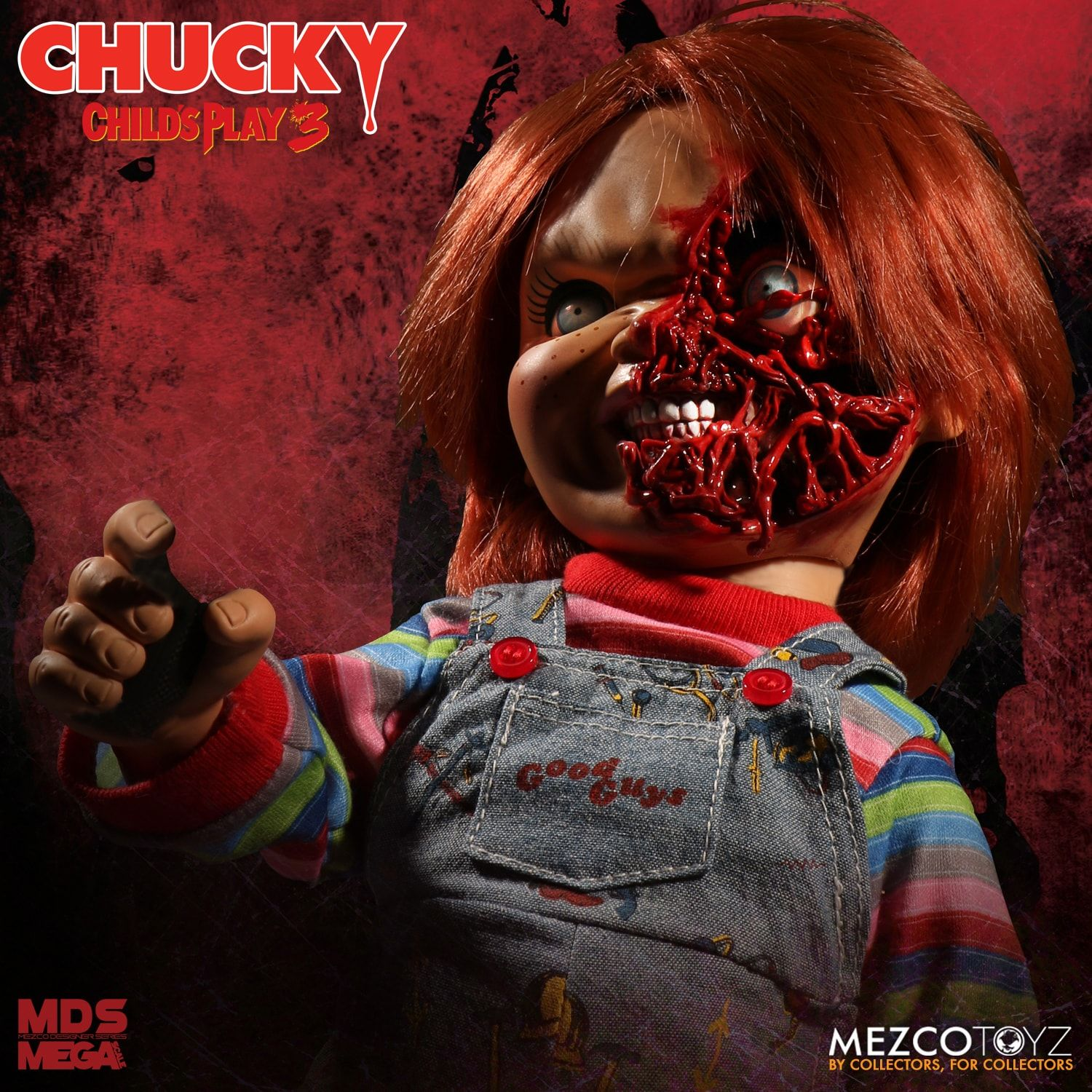 Mezco - Designer Series - Child's Play 3 - Talking Pizza Face Chucky