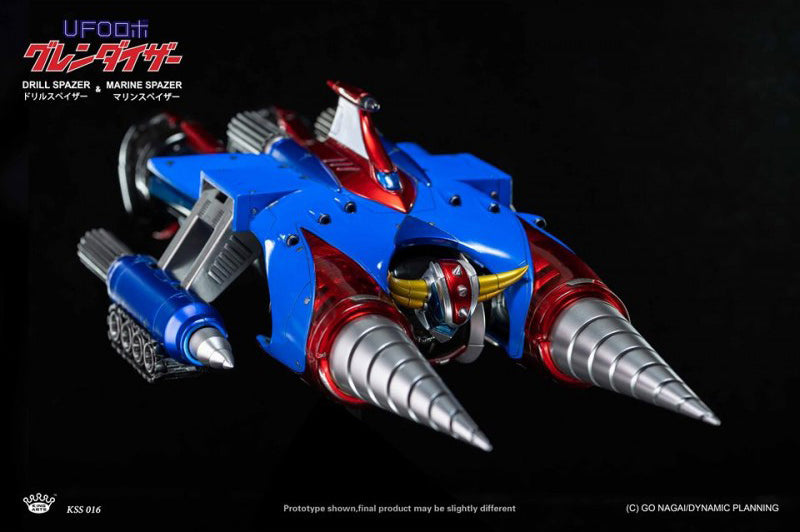 King Arts - KA Scene Series KSS016 - Dynamic Planning - UFO Robot Grendizer - Drill Spazer and Marine Spazer (1/9 Scale)