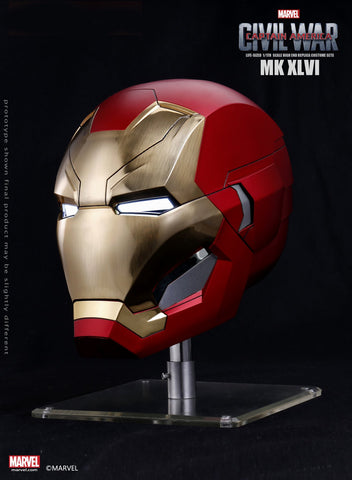 Captain America: Civil War - 1:1 Scale Iron Man Mark XLVI (46) Helmet