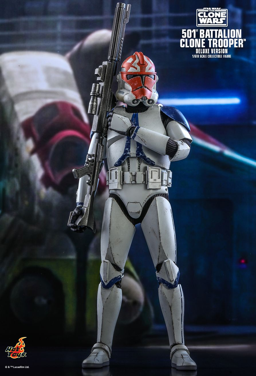 Hot Toys - TMS023 - Star Wars: The Clone Wars - 501st Battalion Clone Trooper (Deluxe Ver.)