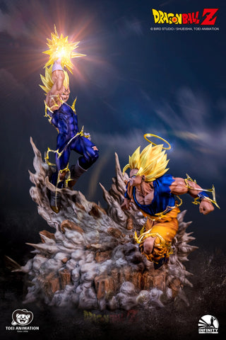 Infinity Studio - Dragon Ball - Super Saiyan 2 Goku vs Majin Vegeta