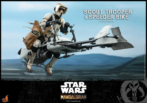 Hot Toys - TMS017 - Star Wars: The Mandalorian - Scout Trooper & Speeder Bike Set