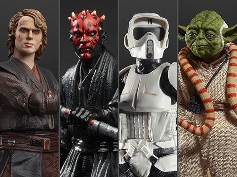Hasbro - Star Wars: The Black Series - Anakin Skywalker, Darth Maul, Scout Trooper, Yoda (2019 Wave 2 Set of 4)