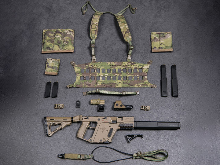 Dam Toys - Elite Firearms Series 3 - 1/6 Vector SMG Tactical Set - EF015 - FDE/Camo
