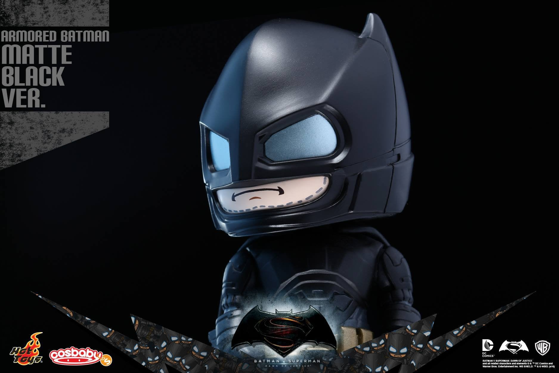 Hot Toys - COSB229-231 - Batman v Superman: Dawn of Justice - Armored Batman (Special Color Versions) Cosbaby (S) Bundle Set - Marvelous Toys - 6