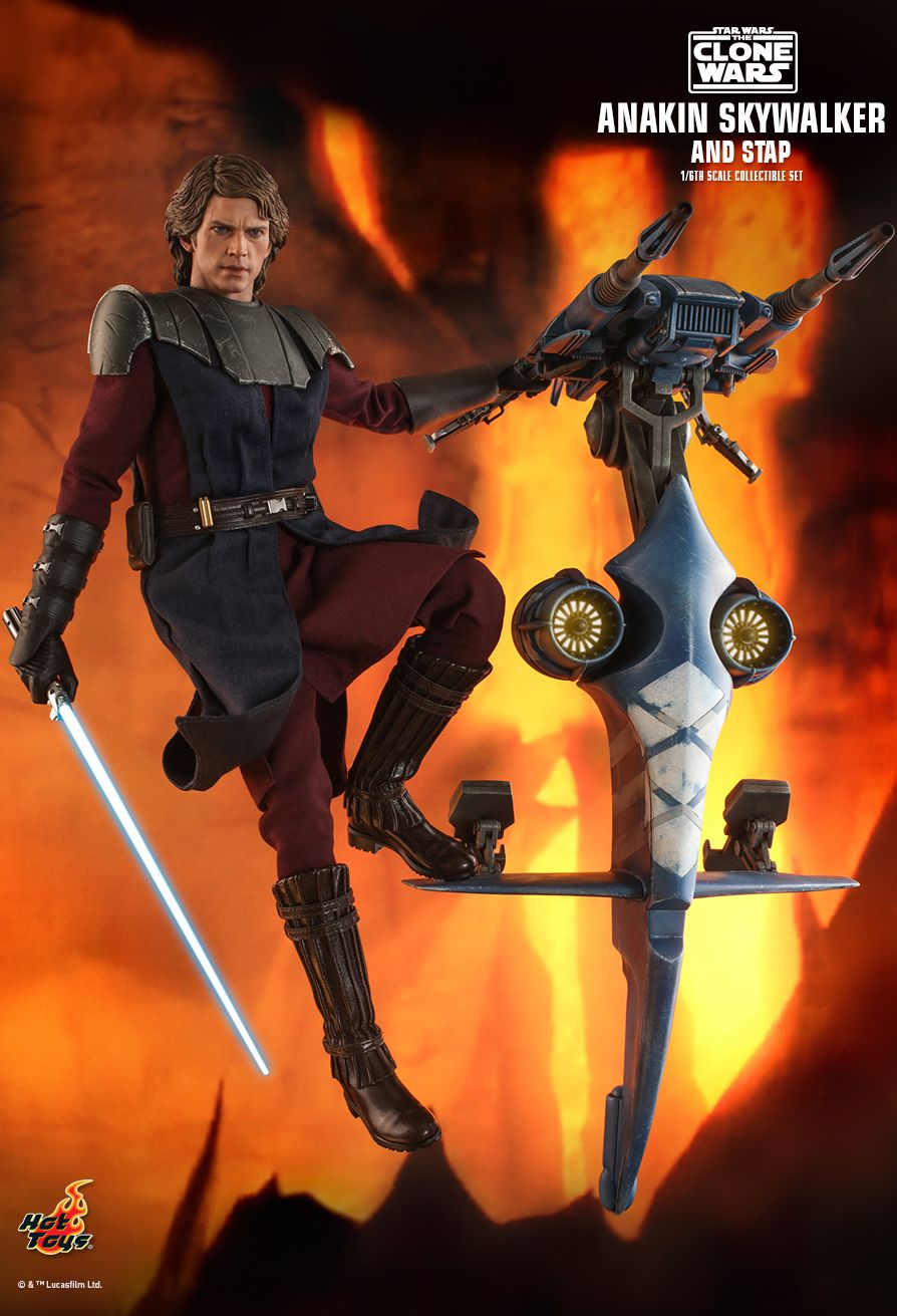 Hot Toys - TMS020 - Star Wars: The Clone Wars - Anakin Skywalker and STAP Set